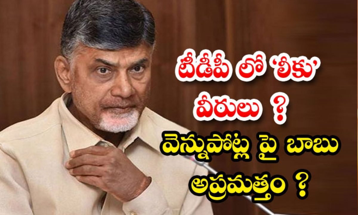 Chandrababu Spying On Coverts In Tdp-టీడీపీ లో లీకు వీరులు వెన్నుపోట్ల పై బాబు అప్రమత్తం -Political-Telugu Tollywood Photo Image-TeluguStop.com