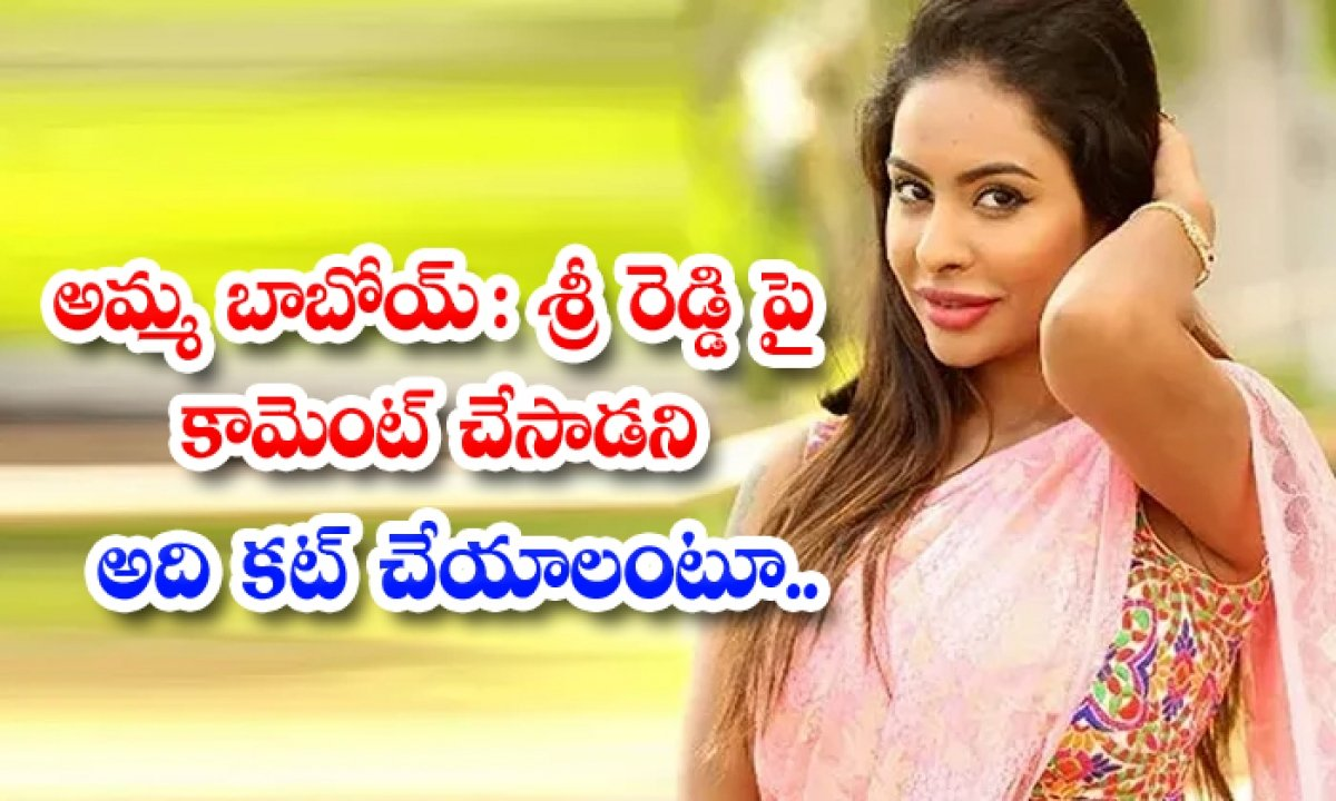 Sri Reddy Hard Reply To The Abuse Comment-TeluguStop.com