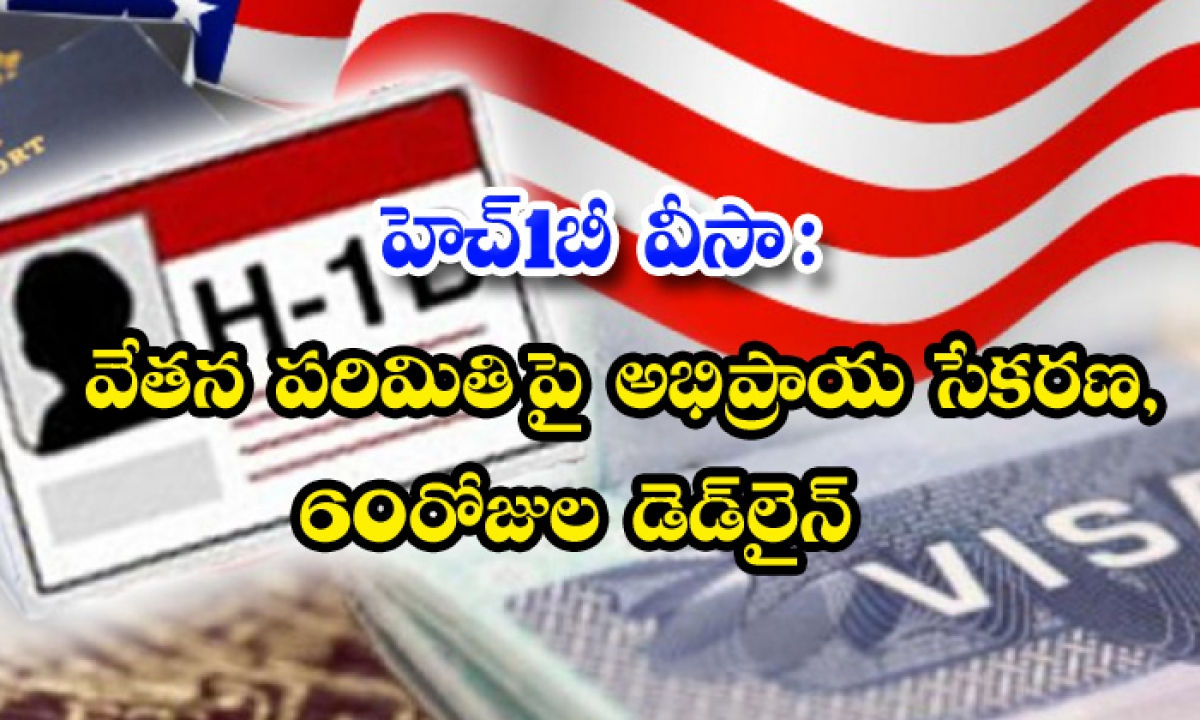 Us Labor Department Public Input H1b Visa Wage Levels 1-TeluguStop.com