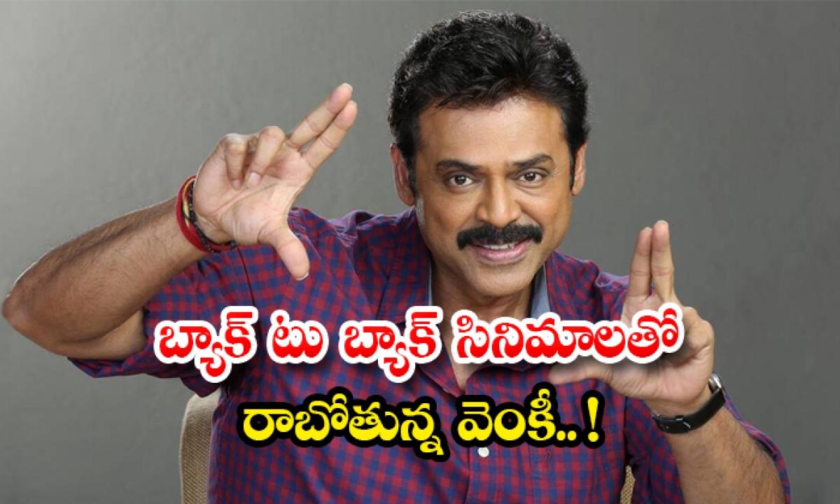 Venkatesh 3 Movies Releases In Four Months-బ్యాక్ టు బ్యాక్ సినిమాలతో రాబోతున్న వెంకీ.. -Latest News - Telugu-Telugu Tollywood Photo Image-TeluguStop.com