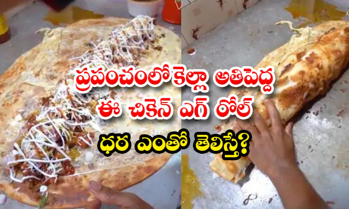 Who Knows The Price Of This Biggest Chicken Egg Roll In The World-TeluguStop.com