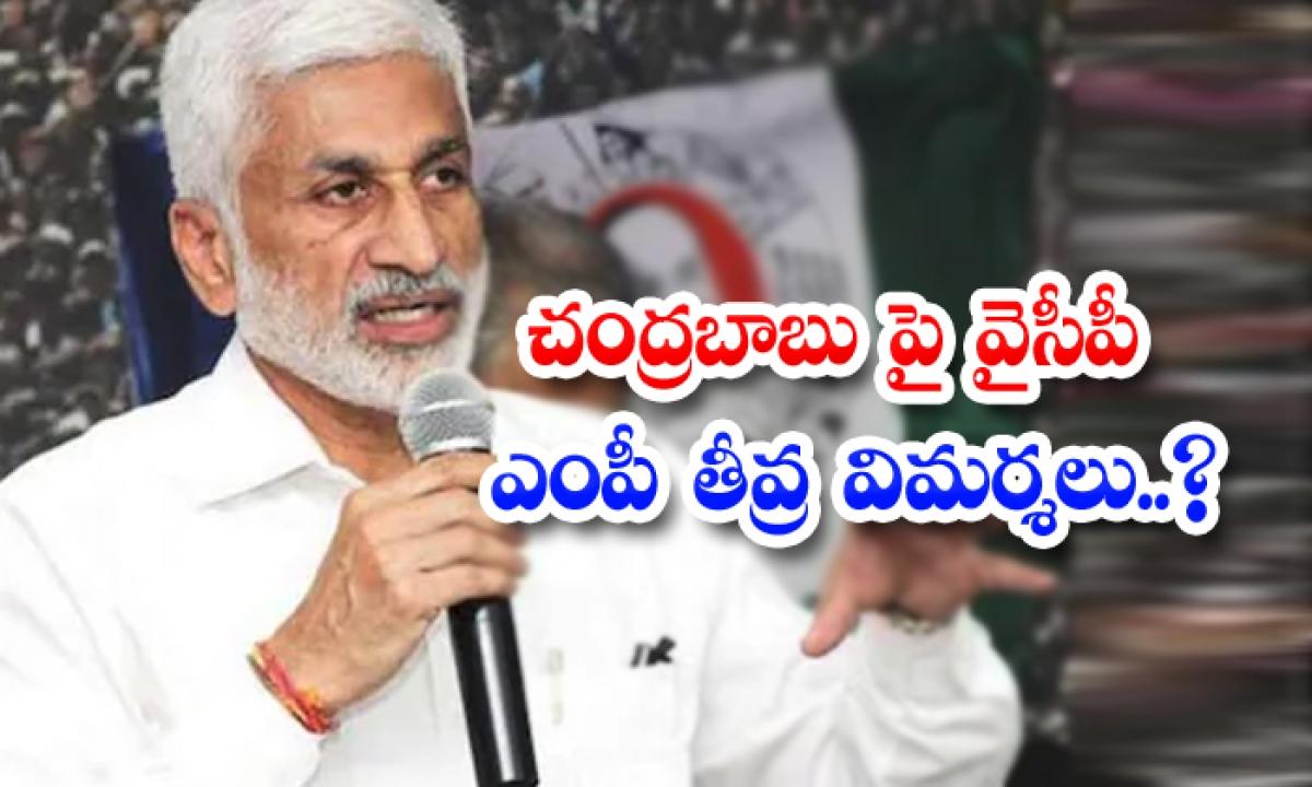 Ycp Mp Criticizes-చంద్రబాబు పై వైసీపీ ఎంపీ తీవ్ర విమర్శలు.. -Breaking/Featured News Slide-Telugu Tollywood Photo Image-TeluguStop.com
