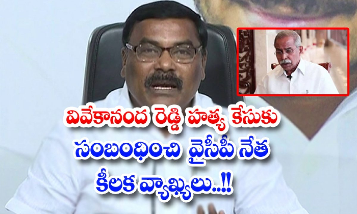 Ysrcp Leader Sensational Comments On Vivekananda Reddy Case-TeluguStop.com