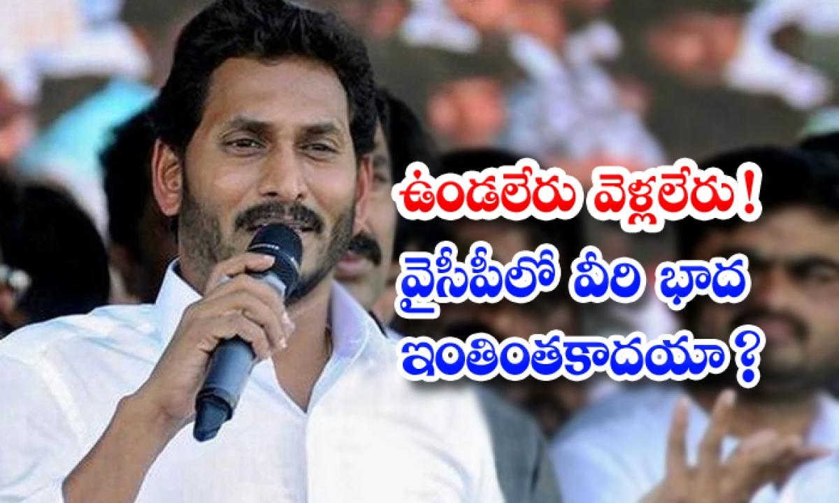 Ysrcp Leaders Not Satisfied On Jagan Behaviour-TeluguStop.com