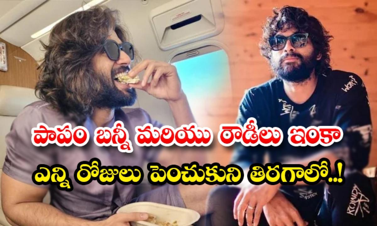 Allu Arjun And Vijay Devarakonda Facing Problems With Corona Shooting Break-పాపం బన్నీ మరియు రౌడీలు ఇంకా ఎన్ని రోజులు పెంచుకుని తిరగాలో..-Latest News - Telugu-Telugu Tollywood Photo Image-TeluguStop.com