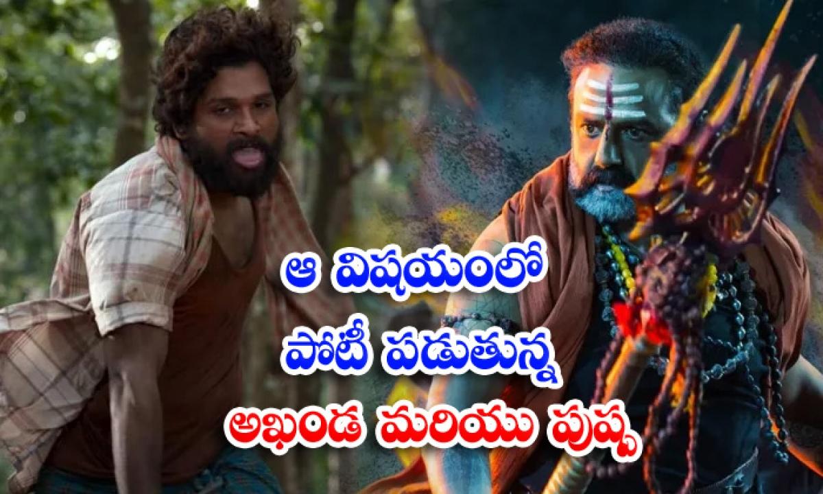 Allu Arjun Pushpa Movie Vs Nandamuri Balakrishna Akhanda Movie Teasers-ఆ విషయంలో పోటీ పడుతున్న అఖండ మరియు పుష్ప-Latest News - Telugu-Telugu Tollywood Photo Image-TeluguStop.com
