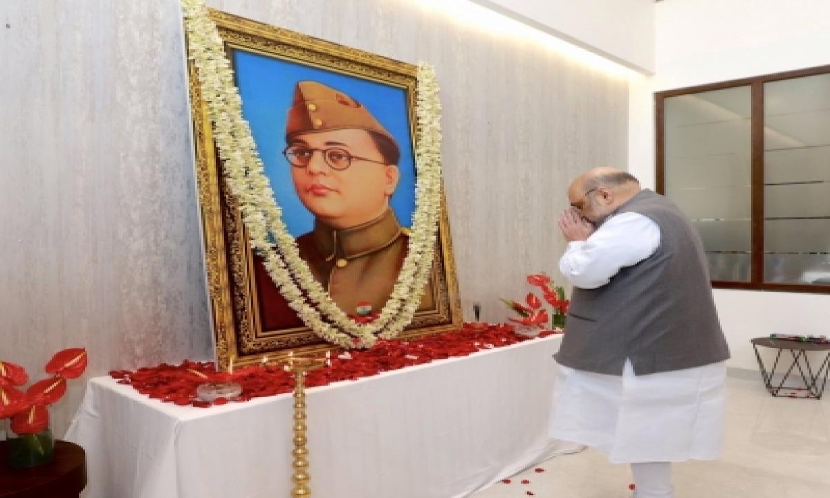 TeluguStop.com - Amit Shah Pays Tribute To Netaji In Guwahati