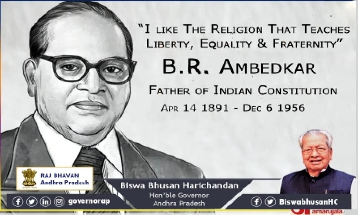 Andhra Guv, Cm Pay Tributes To Ambedkar On Birth Anniversary-TeluguStop.com
