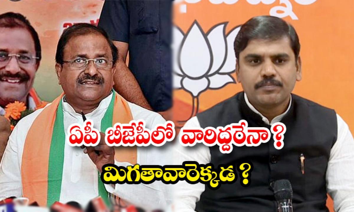 Ap Bjp Troubled On Somu Veerraju And Vishnuvardhan Reddy Behavior-TeluguStop.com