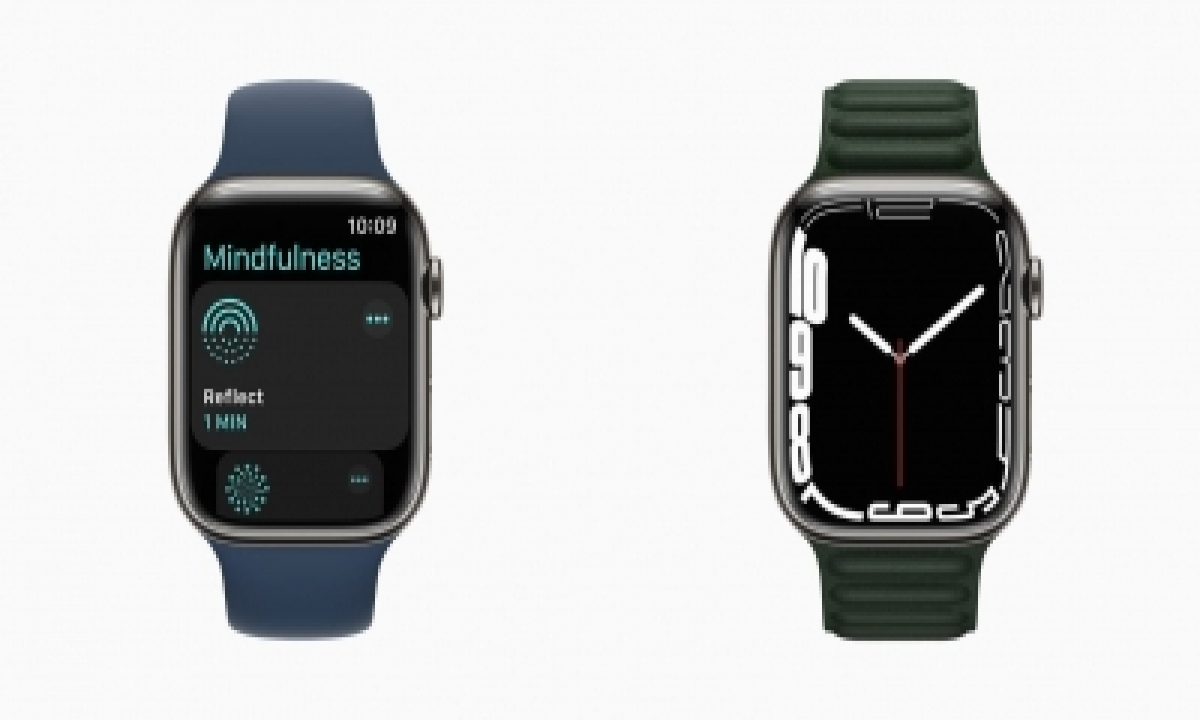 Apple Unveils Watch Series 7 With Redesigned Display, New Features-TeluguStop.com