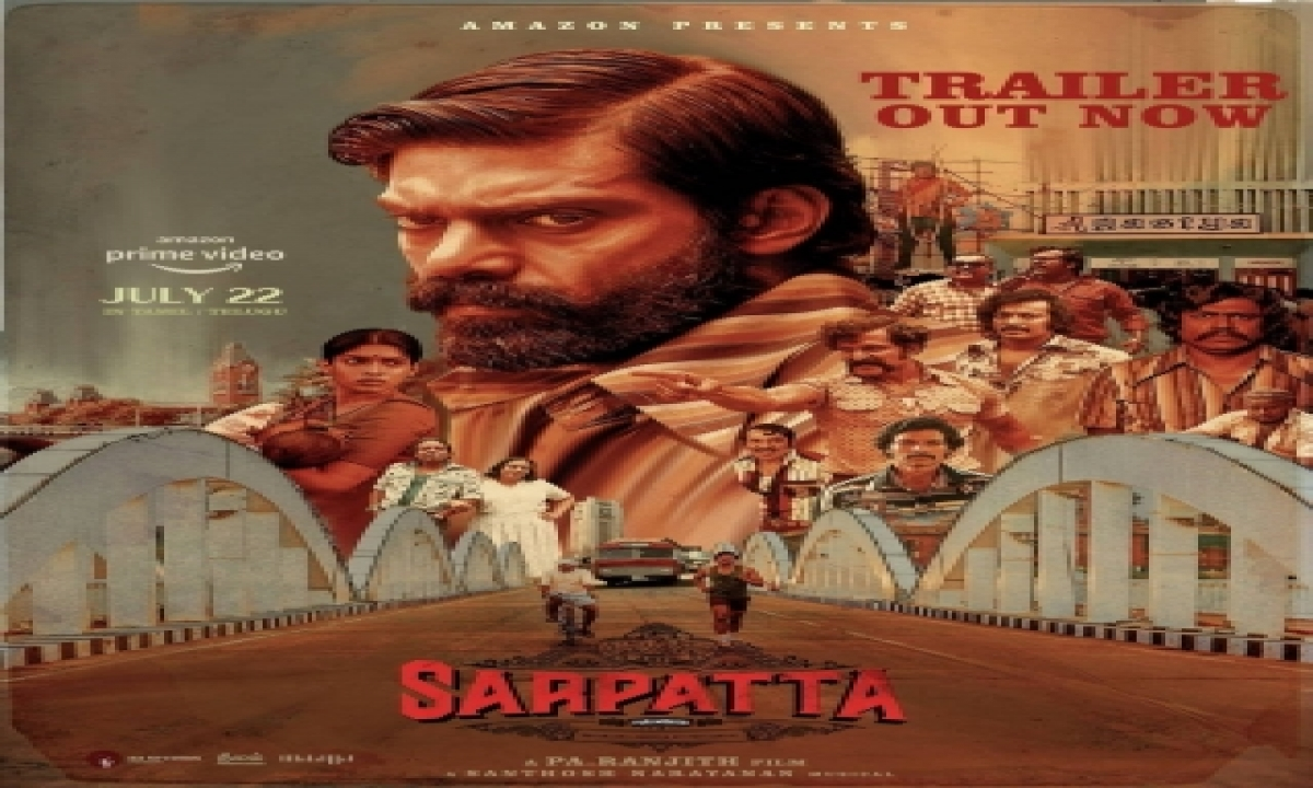 Arya-starrer 'sarpatta Parambarai' To Stream On July 22, Trailer Launched-TeluguStop.com