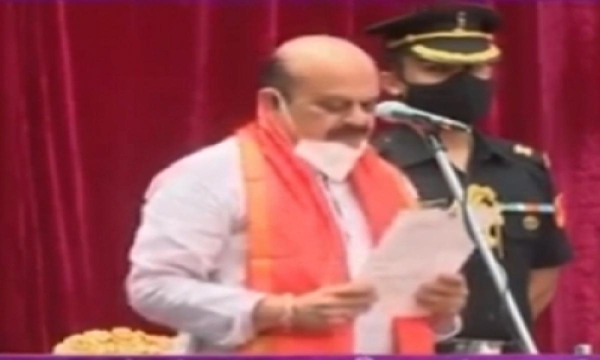 Basavaraj Bommai Sworn-in As 30th Chief Minister Of Karnataka-General-English-Telugu Tollywood Photo Image-TeluguStop.com