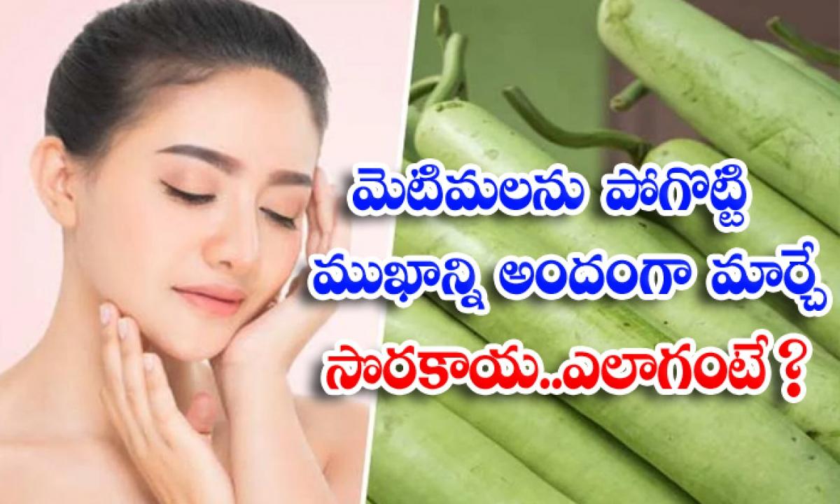Beauty Benefits Of Bottle Gourd Bottle Gourd Bottle Gourd-మొటిమలను పోగొట్టి ముఖాన్ని అందంగా మార్చే సొరకాయ..ఎలాగంటే-Latest News - Telugu-Telugu Tollywood Photo Image-TeluguStop.com