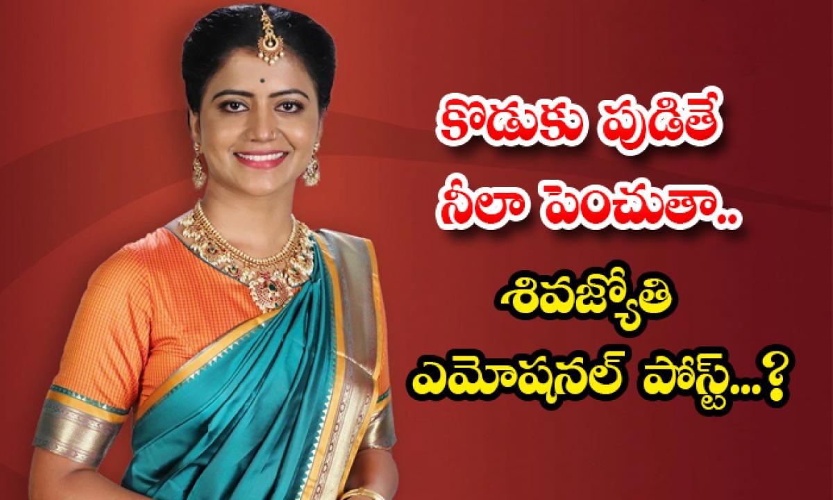Shivajyothi Emotional Post About Bigg Boss 3 Contestant Ravikrishna-TeluguStop.com