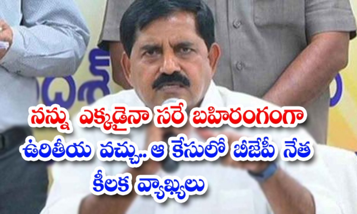 Can I Be Hanged In Public Anywhere Key Remarks Of Bjp Leader-TeluguStop.com