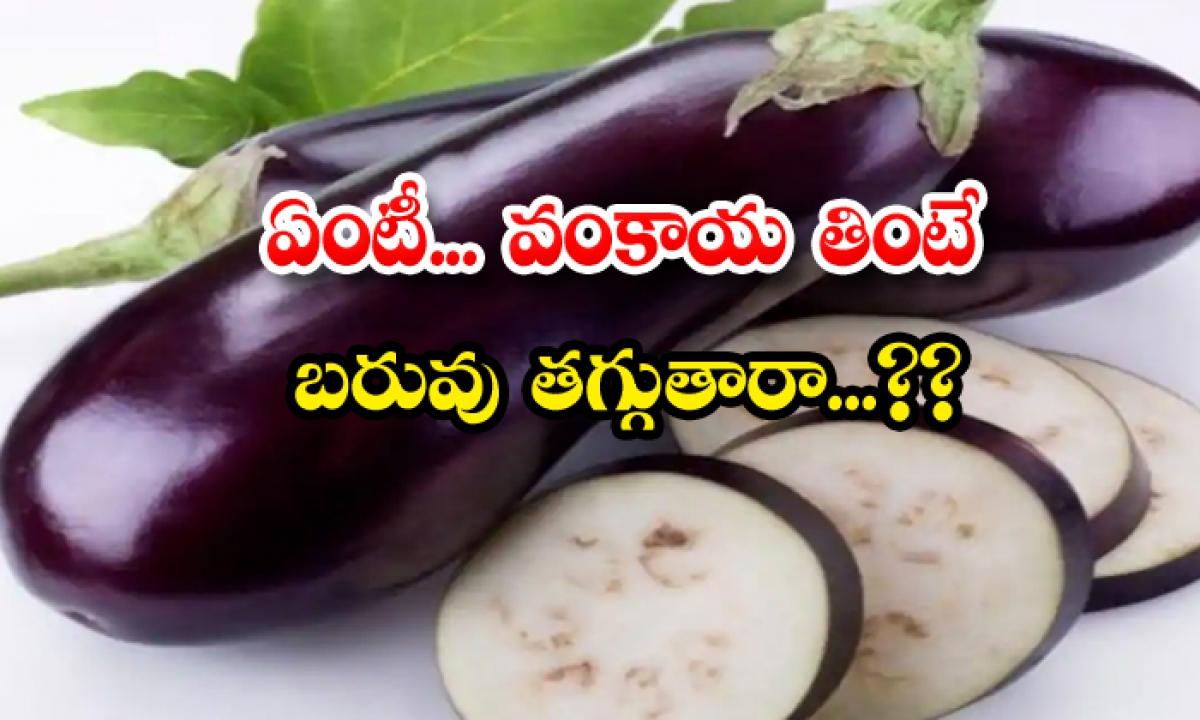 Brinjal Is Good For Weight Loss-ఏంటీ.. వంకాయ తింటే బరువు తగ్గుతారా..-Telugu Health - తెలుగు హెల్త్ టిప్స్ ,చిట్కాలు-Telugu Tollywood Photo Image-TeluguStop.com