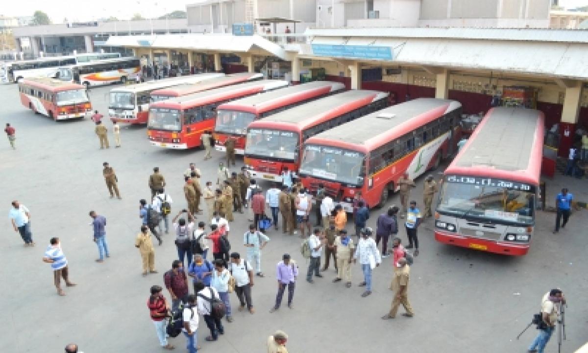 Bus Strike: Normal Life Disrupted In Karnataka-TeluguStop.com