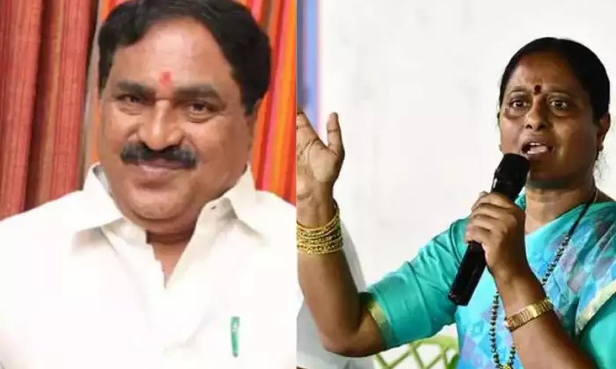 Congress Konda Surekha Sensational Comments On Minister Errabelli Dayakar Rao-మంత్రి ఎర్రబెల్లి దయాకర్ రావుపై సంచలన వ్యాఖ్యలు చేసిన కొండా సురేఖ-Latest News - Telugu-Telugu Tollywood Photo Image-TeluguStop.com
