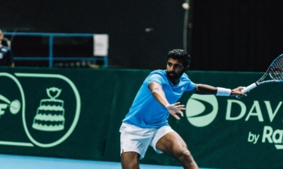 Davis Cup: Prajnesh Wins Lone Consolation As India Go Down 1-3 (ld)-TeluguStop.com