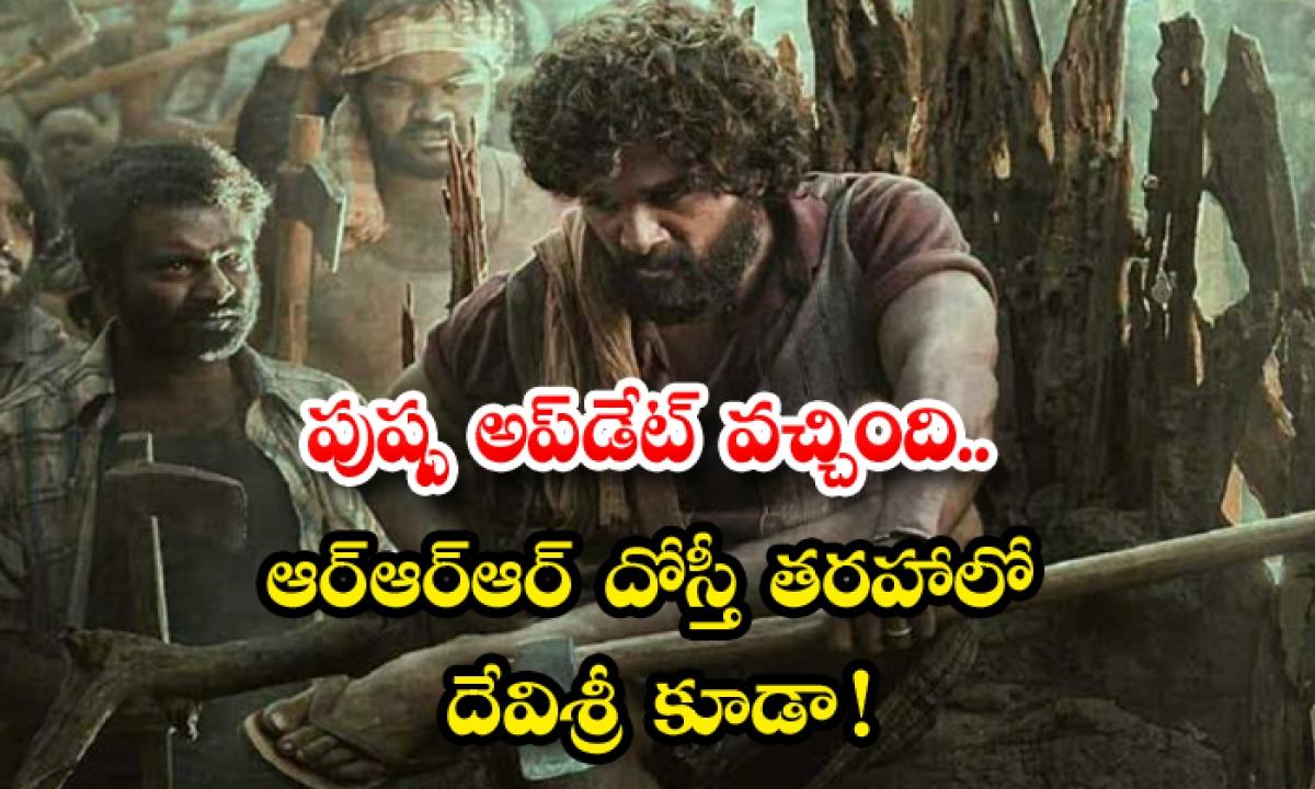 Allu Arjun Pushpa Movie First Song Dakko Dakko Meka-పుష్ప అప్డేట్ వచ్చింది… ఆర్ఆర్ఆర్ దోస్తీ' తరహాలో దేవిశ్రీ కూడా-Latest News - Telugu-Telugu Tollywood Photo Image-TeluguStop.com
