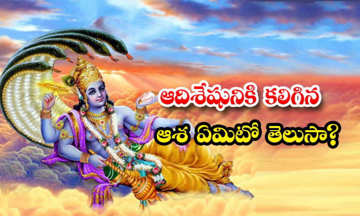 Do You Know What Hope Adisesha Has-ఆదిశేషునికి కలిగిన ఆశ ఏమిటో తెలుసా-Devotional-Telugu Tollywood Photo Image-TeluguStop.com