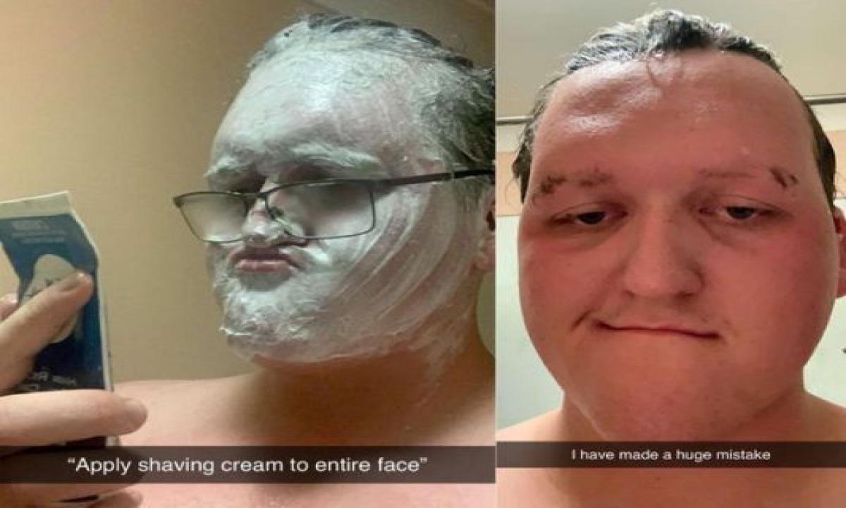 Shaving Cream Removel Cream Social Media-TeluguStop.com