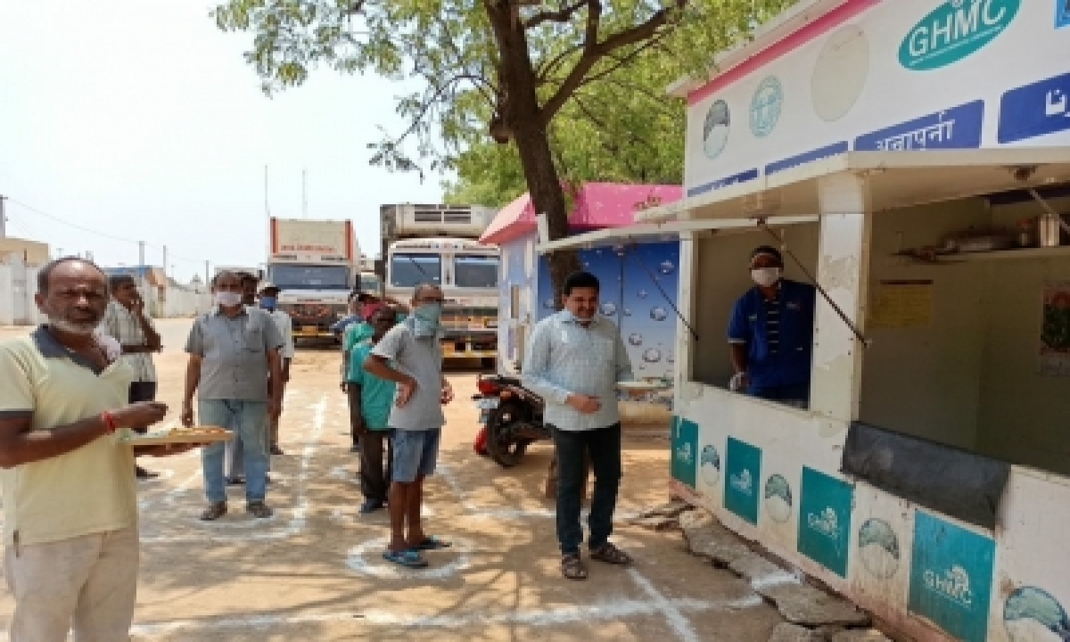 Free Meals For Needy At Annapurna Canteens In Hyd-General-English-Telugu Tollywood Photo Image-TeluguStop.com