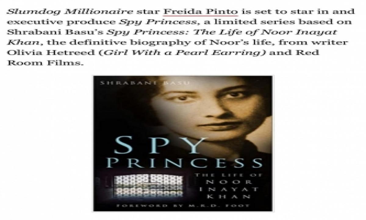 TeluguStop.com - Freida Pinto To Play Noor Inayat Khan In 'spy Princess'