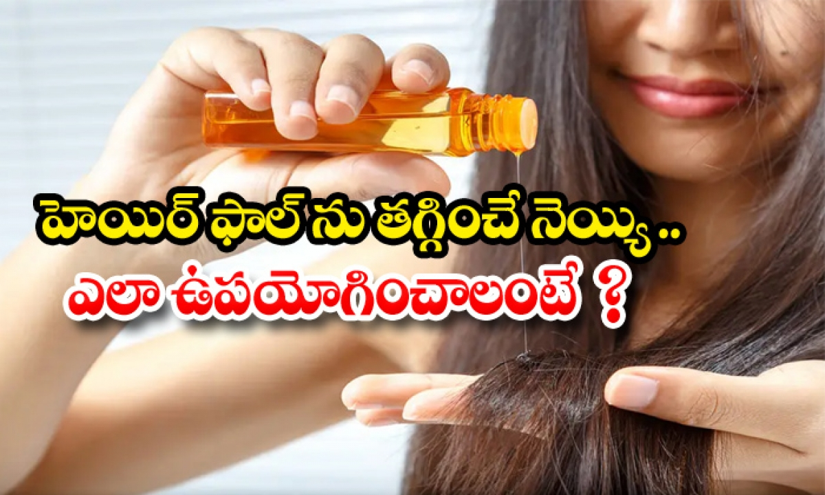 Ghee Helps To Reduce Hair Fall-హెయిర్ ఫాల్ను తగ్గించే నెయ్యి.. ఎలా ఉపయోగించాలంటే-Latest News - Telugu-Telugu Tollywood Photo Image-TeluguStop.com