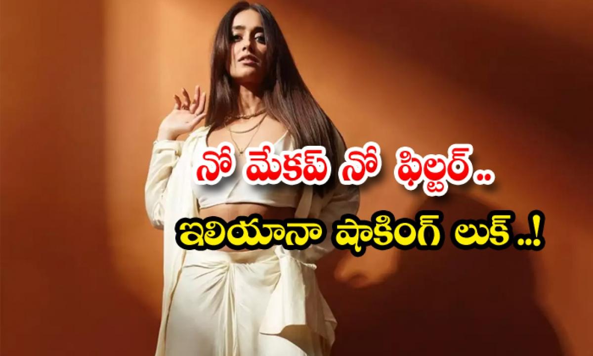 Ileana No Makeup No Filter Natural Look-నో మేకప్ నో ఫిల్టర్.. ఇలియానా షాకింగ్ లుక్..-Latest News - Telugu-Telugu Tollywood Photo Image-TeluguStop.com