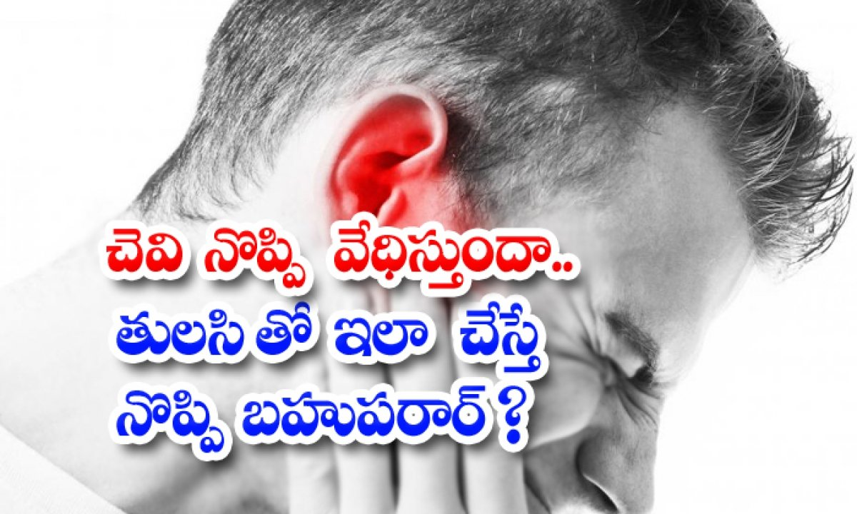 Home Remedies For Get Rid Of Ear Pain-చెవి నొప్పి వేధిస్తుందా.. తులసితో ఇలా చేస్తే నొప్పి బహుపరార్-Latest News - Telugu-Telugu Tollywood Photo Image-TeluguStop.com