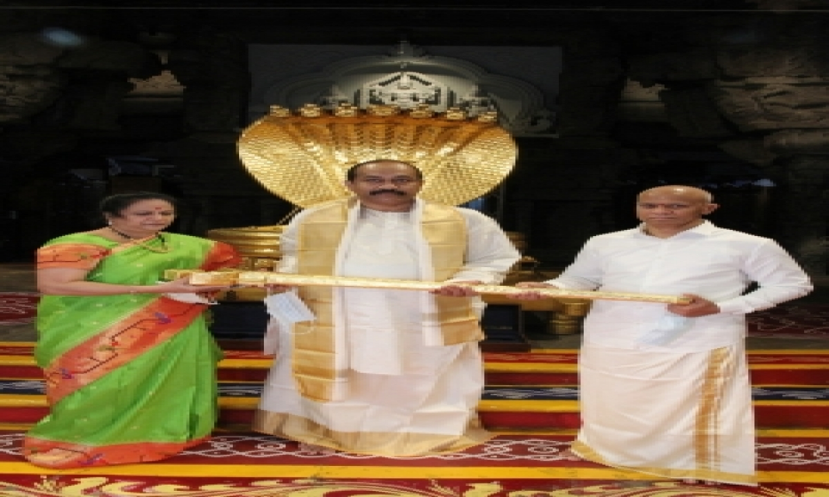 Hyderabad Bizman Donates Rs 1 Cr Gold Sword To Tirupati Deity-General-English-Telugu Tollywood Photo Image-TeluguStop.com
