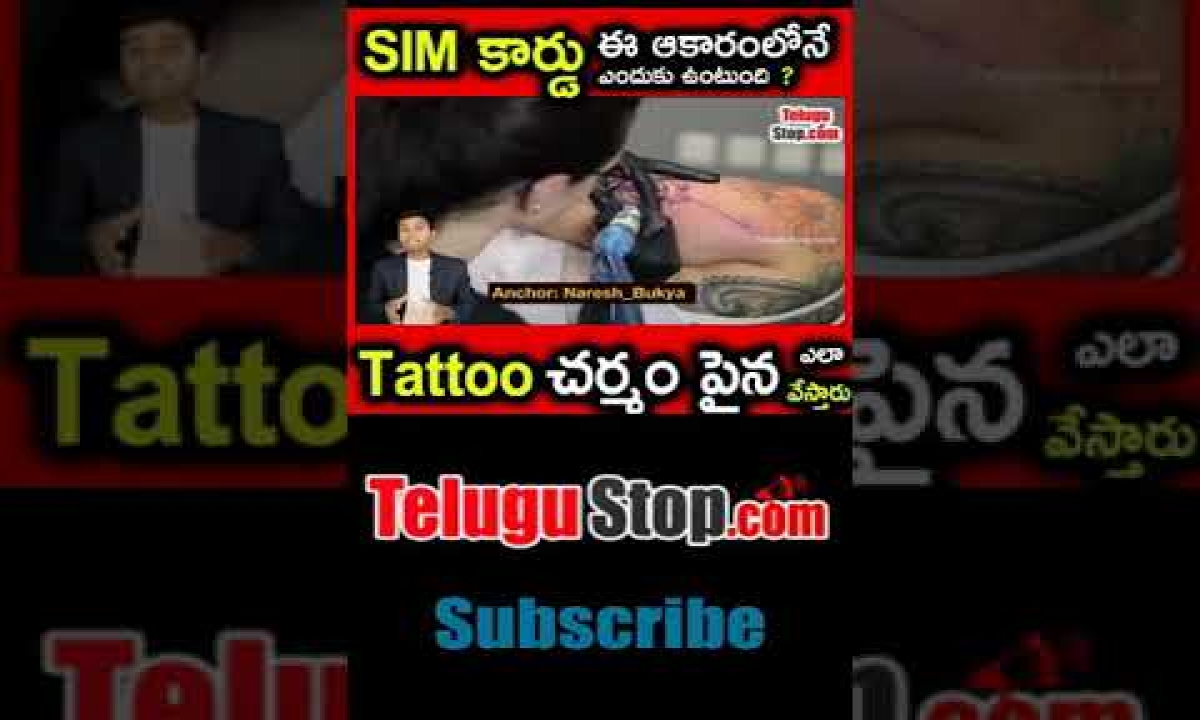 What Makes Tattoos Permanent? | Why Sim Card Have Cut Shape | Telugu Mysteries Facts Badi-TeluguStop.com