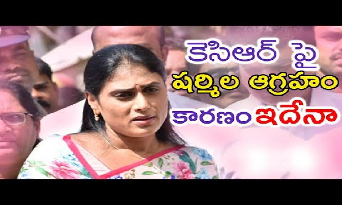 Ys Sharmila Targeted Trs Government |political News| కెసిఆర్ పై షర్మిల ఆగ్రహం..! కారణం ఇదేనా ..?-TeluguStop.com