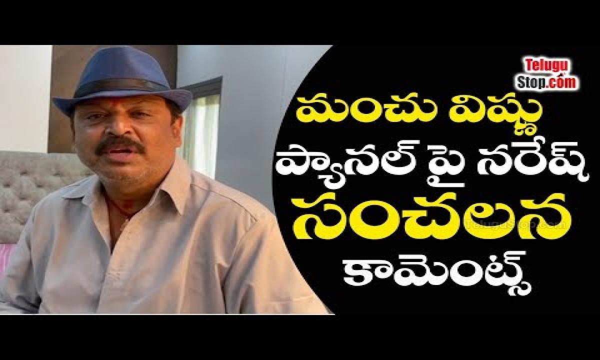 Actor Naresh Comments About Manchu Vishnu Panel Maa Elections 2021 Telu-TeluguStop.com