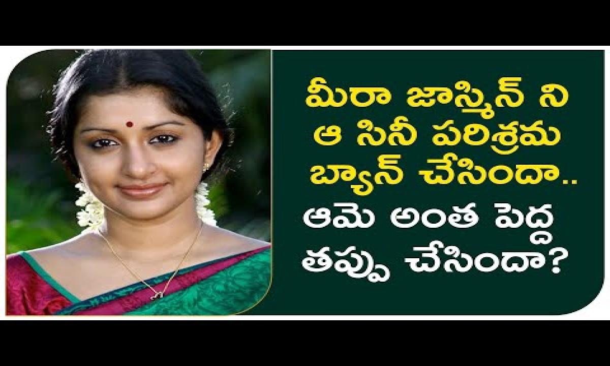 Meera Jasmine Faces An Unofficial Ban | Malayalam Movie Industry Bans Heroine Meera Jasmine |-TeluguStop.com