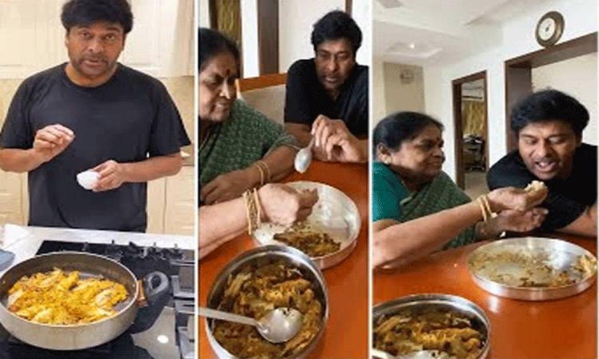 Mega Star Chiranjeevi Small Fish Fry For Mother-అమ్మ కోసం ' చిన్న చేపల వేపుడు' : చిరంజీవి-Movie-Telugu Tollywood Photo Image-TeluguStop.com