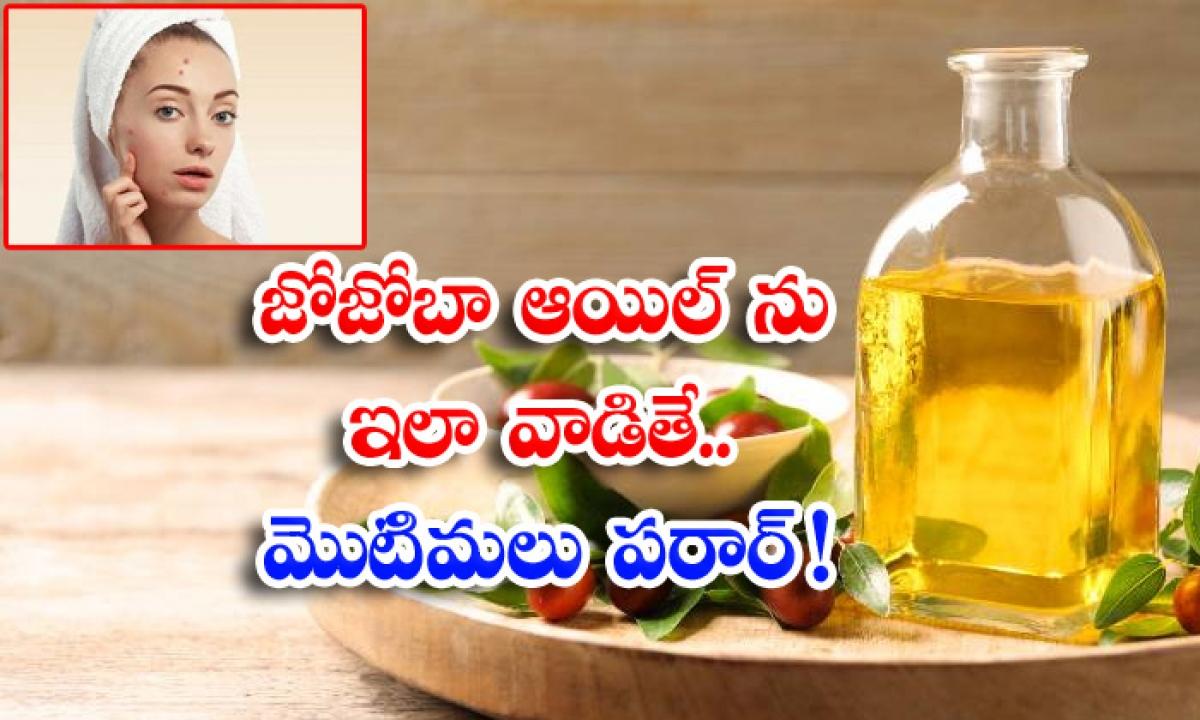 Jojoba Oil Pimples Benefits Of Jojoba Oil Latest News Skin Care-జోజోబా ఆయిల్ను ఇలా వాడితే..మొటిమలు పరార్-Latest News - Telugu-Telugu Tollywood Photo Image-TeluguStop.com