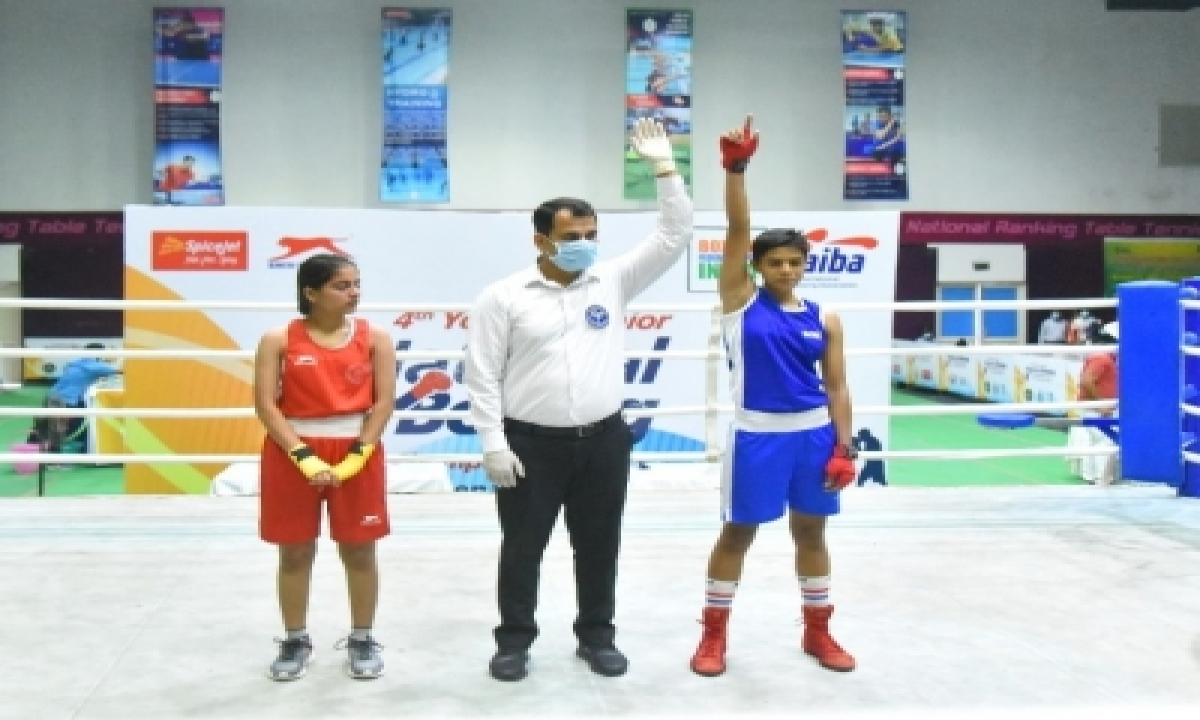 Jr National Boxing: Mahi Raghav Cruises Into Final-TeluguStop.com