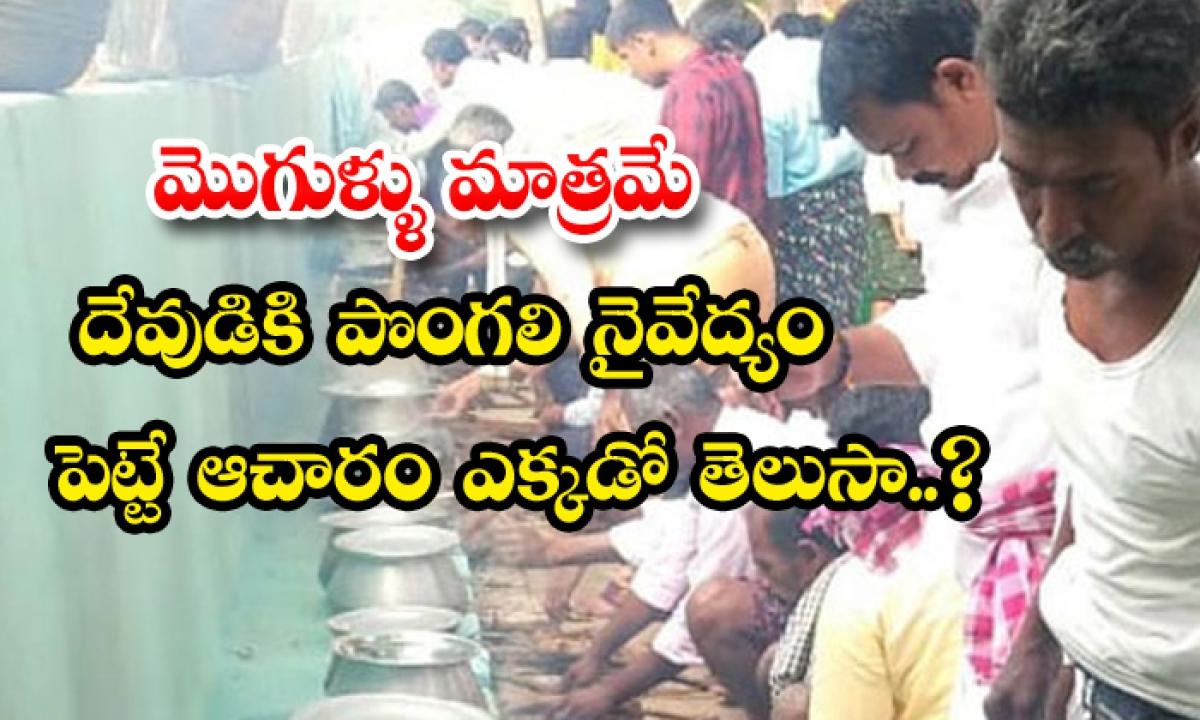 Mens Festival Pullampeta Village Ritual-వైరల్: కేవలం మొగుళ్ళు మాత్రమే దేవుడికి పొంగలి నైవేద్యం పెట్టే ఆచారం ఎక్కడో తెలుసా..-General-Telugu-Telugu Tollywood Photo Image-TeluguStop.com