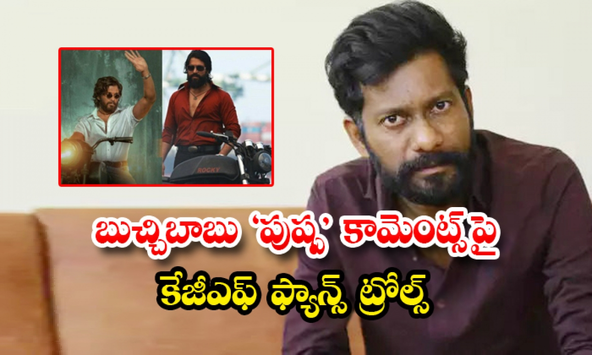Kannada Netizens Trolls On Uppenda Director Buchi Babu-బుచ్చిబాబు పుష్ప' కామెంట్స్ పై కేజీఎఫ్ ఫ్యాన్స్ ట్రోల్స్-Latest News - Telugu-Telugu Tollywood Photo Image-TeluguStop.com