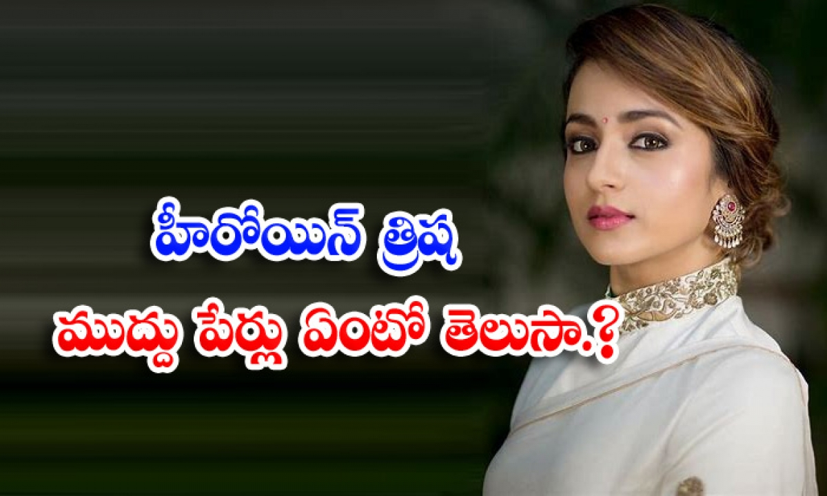 Star Heroine Trisha Nick Name Details-TeluguStop.com