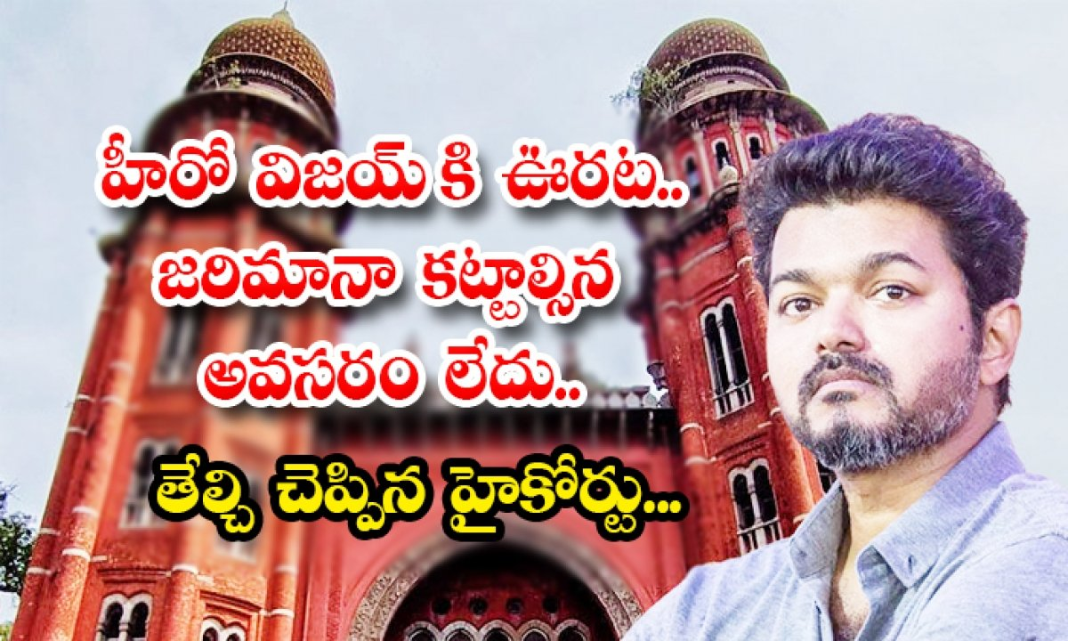 Madras High Court Declared No Fine For Hero Vijay-హీరో విజయ్ కి ఊరట.. జరిమానా కట్టాల్సిన అవసరంలేదు.. తేల్చి చెప్పిన హైకోర్టు…-Latest News - Telugu-Telugu Tollywood Photo Image-TeluguStop.com