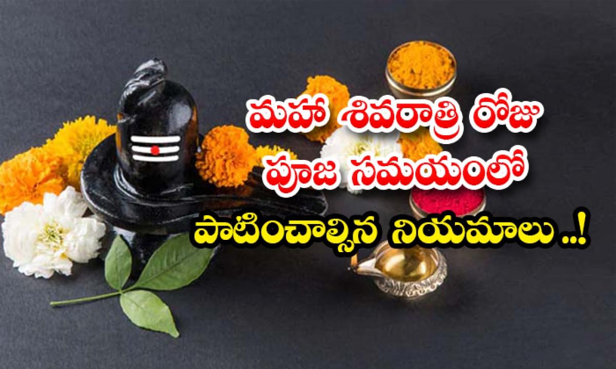 Maha Shivaratri 2021 Pooja Vidhi And Rules In Telugu-మహా శివరాత్రి రోజు పూజ సమయంలో పాటించాల్సిన నియమాలు ..-Latest News - Telugu-Telugu Tollywood Photo Image-TeluguStop.com