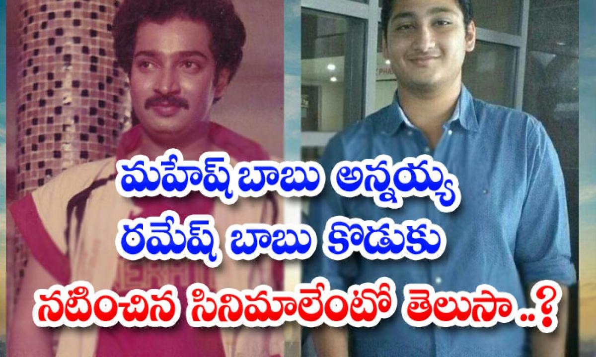 Mahesh Babu Brother Ramhesh Babu Son Also Acted In Movies-మహేష్ బాబు అన్నయ్య రమేష్ బాబు కొడుకు నటించిన సినిమాలేంటో తెలుసా..-Latest News - Telugu-Telugu Tollywood Photo Image-TeluguStop.com
