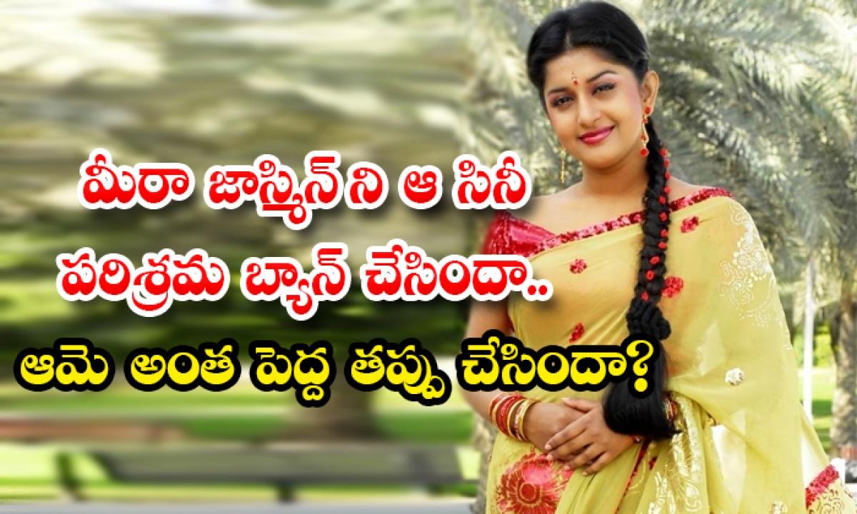Malayam Movie Industry Bans Meera Jasmine Is She Did Such A Big Mistake-మీరా జాస్మిన్ ని ఆ సినీ పరిశ్రమ బ్యాన్ చేసిందా.. ఆమె అంత పెద్ద తప్పు చేసిందా-Latest News - Telugu-Telugu Tollywood Photo Image-TeluguStop.com