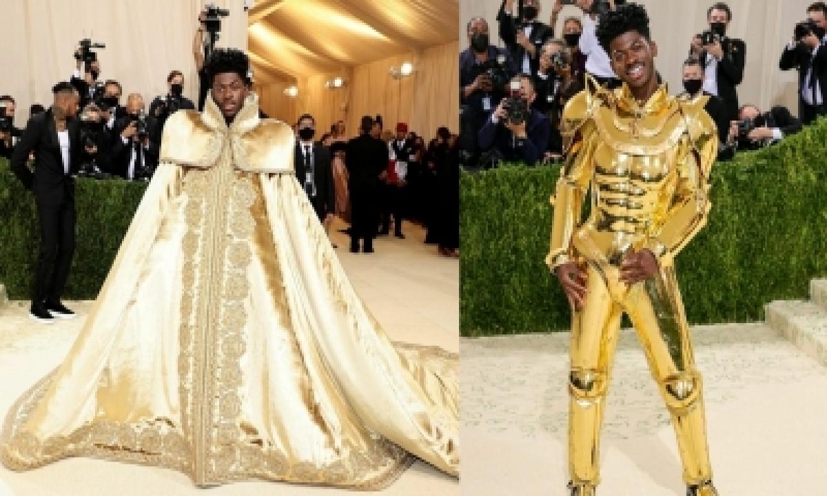 Met Gala 2021: Lil Nas X Dons Three Versace Looks In One-TeluguStop.com