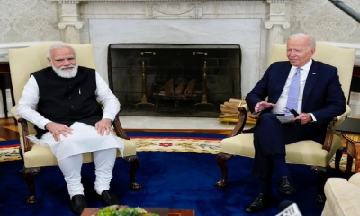 Modi, Biden Launch 'new Chapter' In India-us Ties To Face Tough Challenges (lead)-TeluguStop.com
