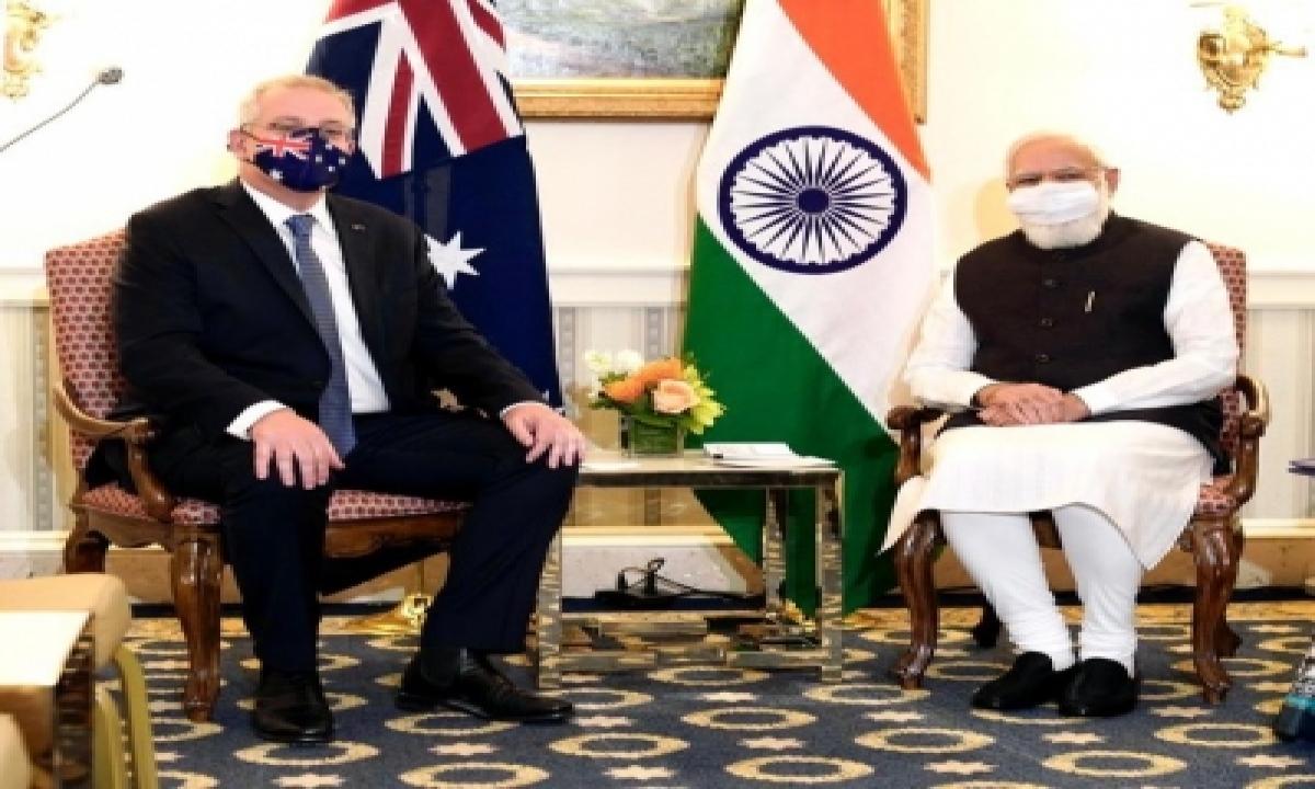 Modi, Morrison Discuss Defence Partnership, Bilateral Ties-TeluguStop.com