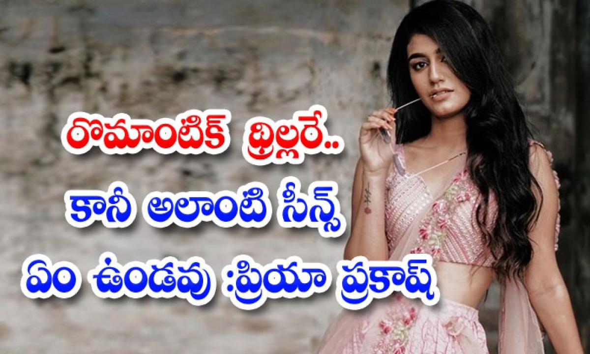 Priya Prakash Varrier Interview About Ishq Movie-రొమాంటిక్ థ్రిల్లరే.. కానీ అలాంటి సీన్స్ ఏం ఉండవు: ప్రియా ప్రకాష్-Latest News - Telugu-Telugu Tollywood Photo Image-TeluguStop.com